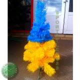 Ель искуственная УКРАИНКА желто-синяя 0,6 м