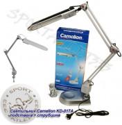 Светильник настольный Camelion KD-017А 11W серый, подставка + струбцина