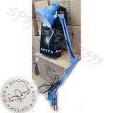 Настольная лампа на СТРУБЦИНЕ WT-074, ножка 80см, выключатель на проводе, ГОЛУБАЯ