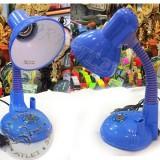 Детская настольная лампа с подставкой для ручек, голубая