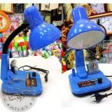 Настольная лампа с часами, детская, HM-608 голубая