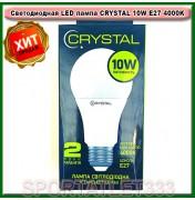 Светодиодная LED лампа CRYSTAL 10W E27 4000K A60 220V (стандартная)