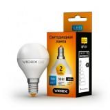 Светодиодная лампа LED лампа VIDEX G45e 5W E14 3000K 220V