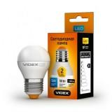Светодиодная лампа LED лампа VIDEX G45e 5W E27 3000K 220V