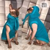ЖИЛЕТ для кота, С-517 (цвет- светло бирюзовый, ткань - трикотаж на меху)